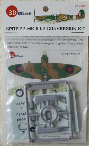 3D Kits 1/72 C002 Supermarine Spitfire MK.IILR Conversion Set
